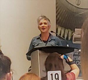 Denise Mina during her keynote