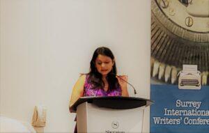Sonali Dev during her keynote